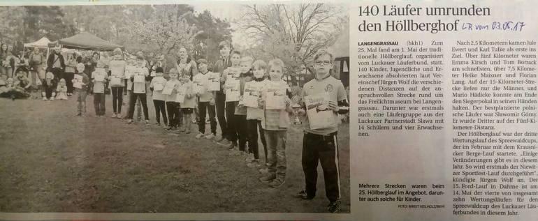 Langengrassau: 140 Läufer umrunden den Höllberhof