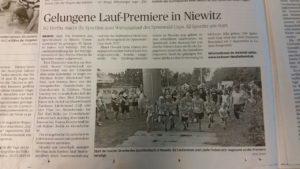 Laufpremiere Niewitz