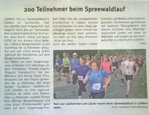 Pressemitteilung Lausitzer Woche vom 23.09.2017 zum 37. Spreewaldlauf