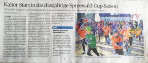 Lausitzer Runschau vom 26.02.2018 berichtet über den Berge-Pokallauf in Krausnick