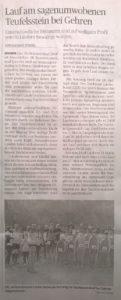 Artikel der Lausitzer Rundschau vom 26.03.2018 zum sagenumwobenen Teufelstein bei Gehren