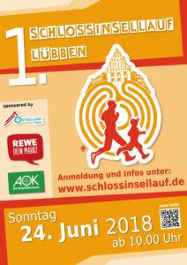 Plakat des ersten Schlossinsellauf auf der Schlossinsel in Lübben