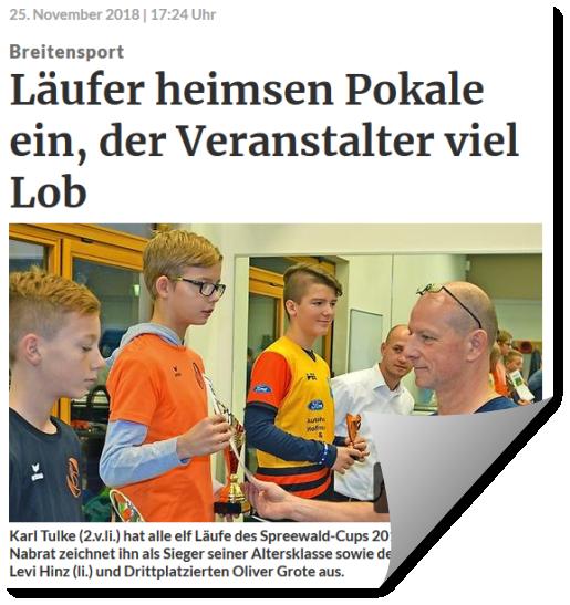Lausitzer Rundschau berichtet über Spreewald-Cups 2018