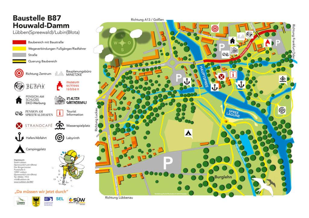 Karte Parkplätze Schlossinsel