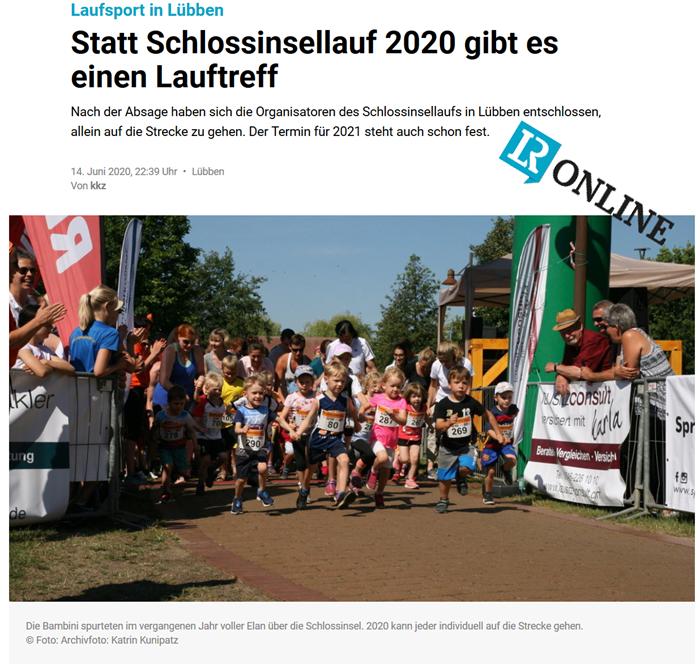 Pressemitteilung Lausitzer Rundschau vom 14.06.2020