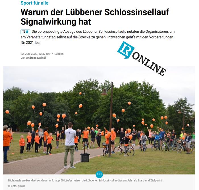 Pressemitteilung Lausitzer Rundschau vom 22.06.2020
