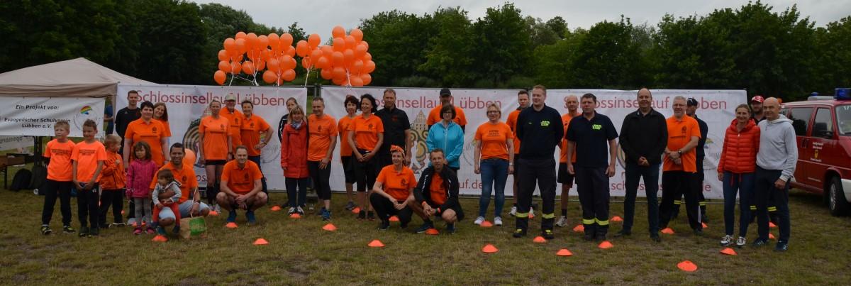 Team und viele Helfer vom Schlossinsellauf